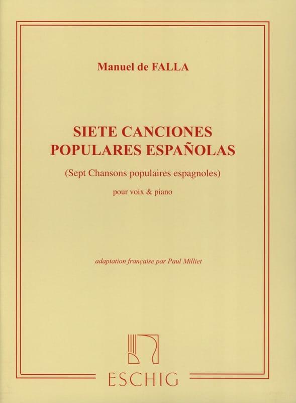 7 Canciones Populares Españolas. Voix Moyenne - laflutedepan.com