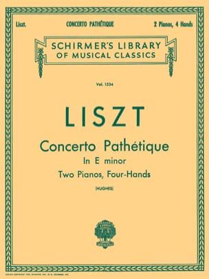 Concerto Pathétique En Mi Mineur LISZT Partition Piano - laflutedepan