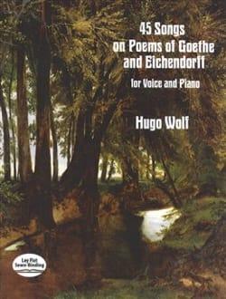 45 songs Hugo Wolf Partition Mélodies - laflutedepan