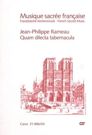 Quam dilecta tabernacula RAMEAU Partition Chœur - laflutedepan
