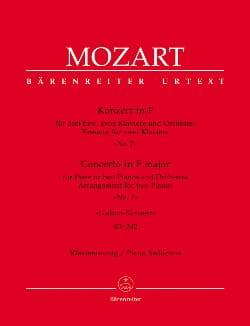 Concerto Pour Piano N° 7 en fa majeur Pour 3 Pianos K 242 laflutedepan