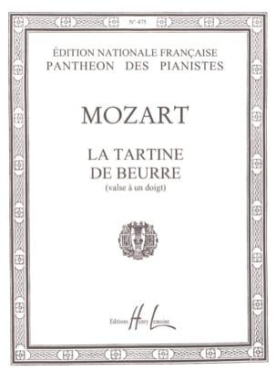 La Tartine de Beurre MOZART Partition Piano - laflutedepan
