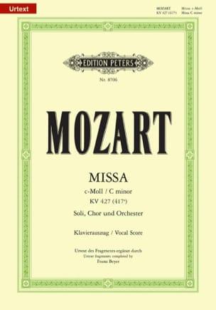 Grande Messe En Ut Mineur K 427 MOZART Partition Chœur - laflutedepan
