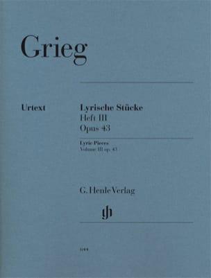 Edward Grieg - Lyrische Stücke Heft 3 Opus 43 - Partition - di-arezzo.co.uk