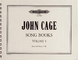Song Books Volume 1 - CAGE - Partition - laflutedepan.com