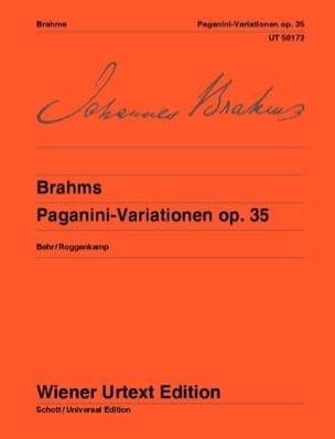 Variations sur un Thème de Paganini Opus 35 BRAHMS laflutedepan