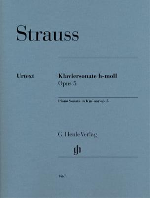 Richard Strauss - Sonate en Si mineur Opus 5 - Partition - di-arezzo.fr