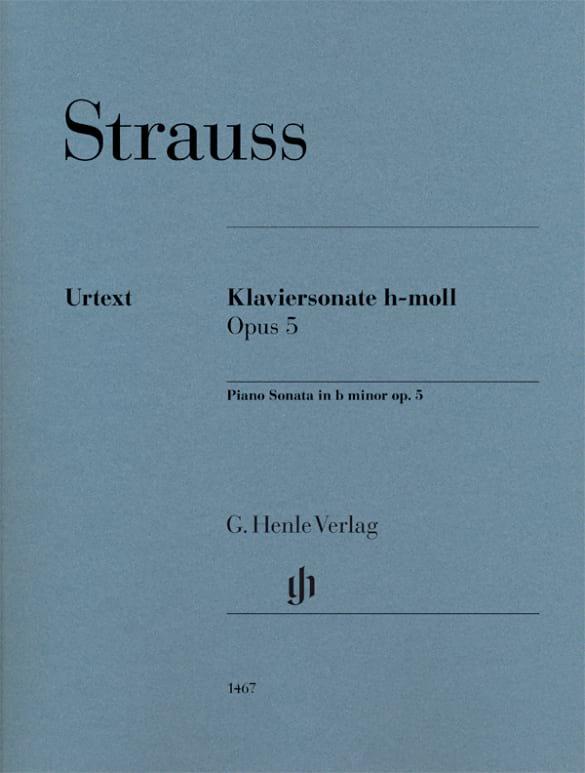 Sonate en Si mineur Opus 5 - Richard Strauss - laflutedepan.com