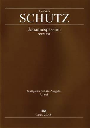 Johannespassion Swv 481 SCHUTZ Partition Chœur - laflutedepan