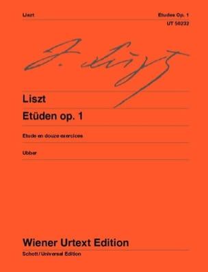 Etudes Opus 1 LISZT Partition Piano - laflutedepan