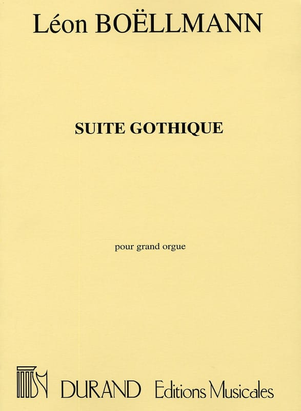 Suite Gothique Opus 25 - Léon Boëllmann - Partition - laflutedepan.be