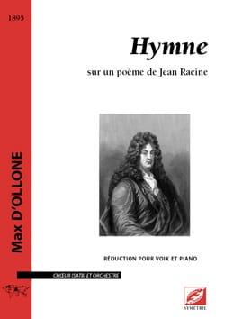 Hymne Max d' Ollone Partition Chœur - laflutedepan