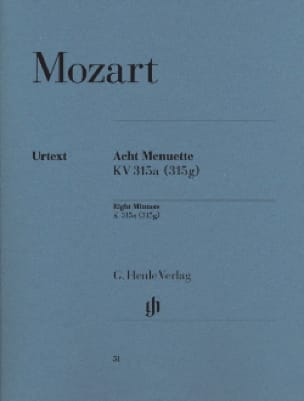 8 Menuette Mit Trios K 315a 315g - MOZART - laflutedepan.com
