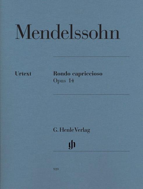 Rondo Capriccioso Opus 14 - MENDELSSOHN - Partition - laflutedepan.com