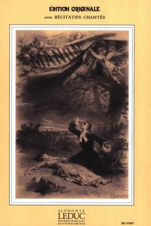 Manon MASSENET Partition Opéras - laflutedepan