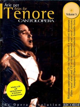 Arie Per Tenore Volume 5 Partition Opéras - laflutedepan