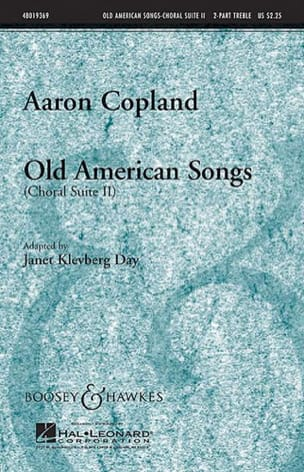 Old american songs Choral suite II COPLAND Partition laflutedepan