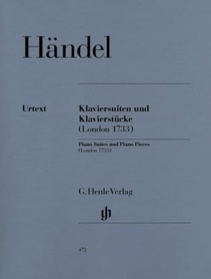Suites et Pièces Pour Piano Londres 1733 HAENDEL laflutedepan