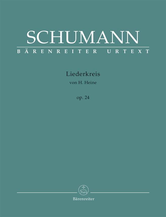 Liederkreis Opus 24 - SCHUMANN - Partition - laflutedepan.com