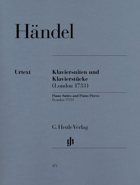 Suites et Pièces Pour Piano Londres 1733 - HAENDEL - laflutedepan.com