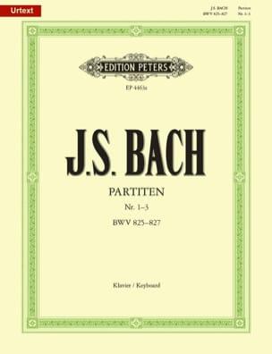 Partitas. Volume 1 BACH Partition Piano - laflutedepan