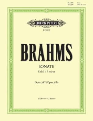 Sonate Opus 34 Bis. 2 Pianos BRAHMS Partition Piano - laflutedepan