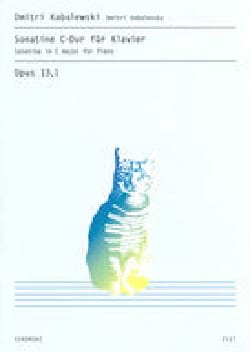 Sonatine N°1 Opus 13-1 - KABALEVSKY - Partition - laflutedepan.com
