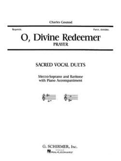 O Divine Redeemer. GOUNOD Partition Duos - laflutedepan