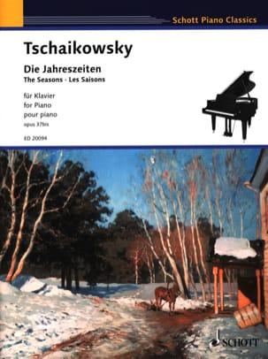 Die Jahreszeiten Opus 37bis TCHAIKOVSKY Partition Piano - laflutedepan