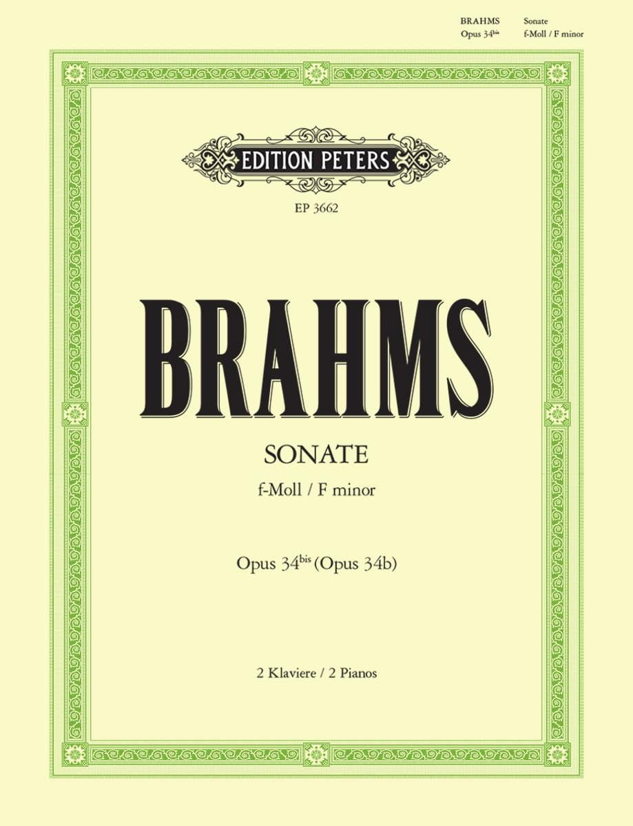 Sonate Opus 34 Bis. 2 Pianos - BRAHMS - Partition - laflutedepan.com