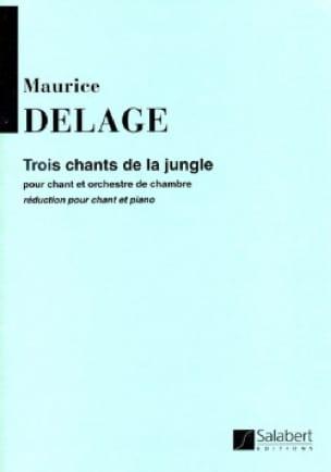 3 Chants de la Jungle - Maurice Delage - Partition - laflutedepan.com