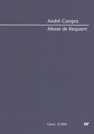 Messe de Requiem. Conducteur CAMPRA Partition Chœur - laflutedepan