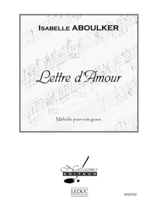 Lettre d'Amour. Voix grave Isabelle Aboulker Partition laflutedepan