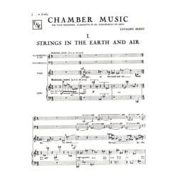 Luciano Berio - Chamber Music - Partition - di-arezzo.co.uk