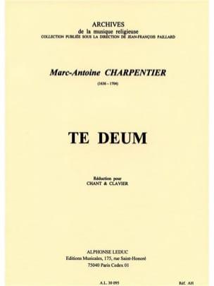 Te Deum CHARPENTIER Partition Chœur - laflutedepan