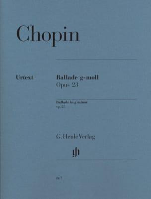 Ballade en sol mineur Opus 23 CHOPIN Partition Piano - laflutedepan