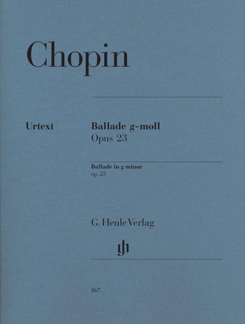 Ballade en sol mineur Opus 23 - CHOPIN - Partition - laflutedepan.com