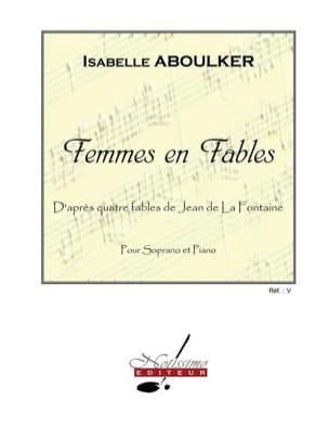 Femmes en Fables Isabelle Aboulker Partition Mélodies - laflutedepan