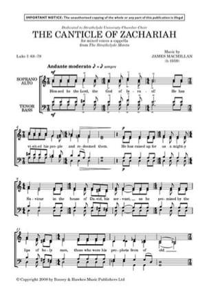 The Canticle Of Zachariah James Macmillan Partition laflutedepan