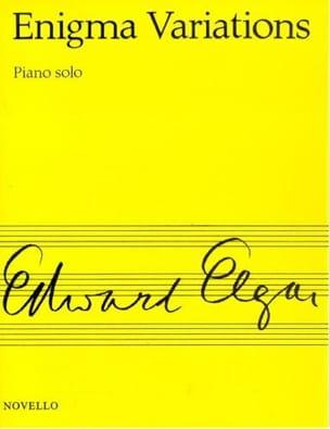 Enigma Variations Opus 36 ELGAR Partition Piano - laflutedepan