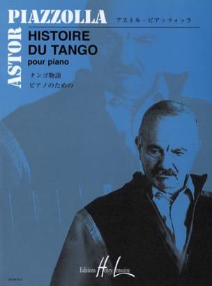 Histoire du Tango Astor Piazzolla Partition Piano - laflutedepan