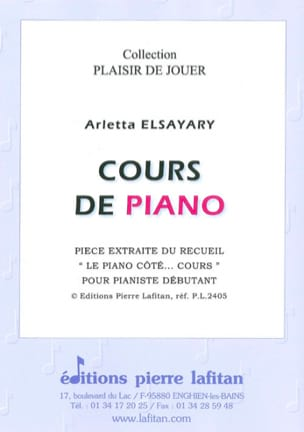 Cours de Piano Arletta Elsayari Partition Piano - laflutedepan