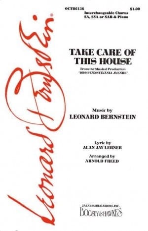 Take Care Of This House BERNSTEIN Partition Chœur - laflutedepan