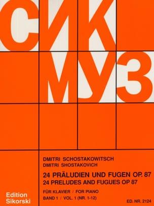 24 Préludes et Fugues Opus 87 Volume 1 CHOSTAKOVITCH laflutedepan