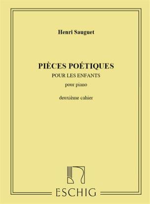 Pièces Poétiques Volume 2 Henri Sauguet Partition Piano - laflutedepan