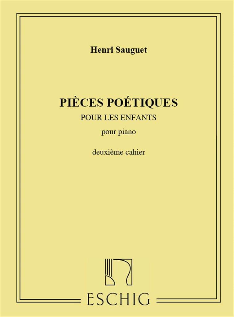 Pièces Poétiques Volume 2 - Henri Sauguet - laflutedepan.com