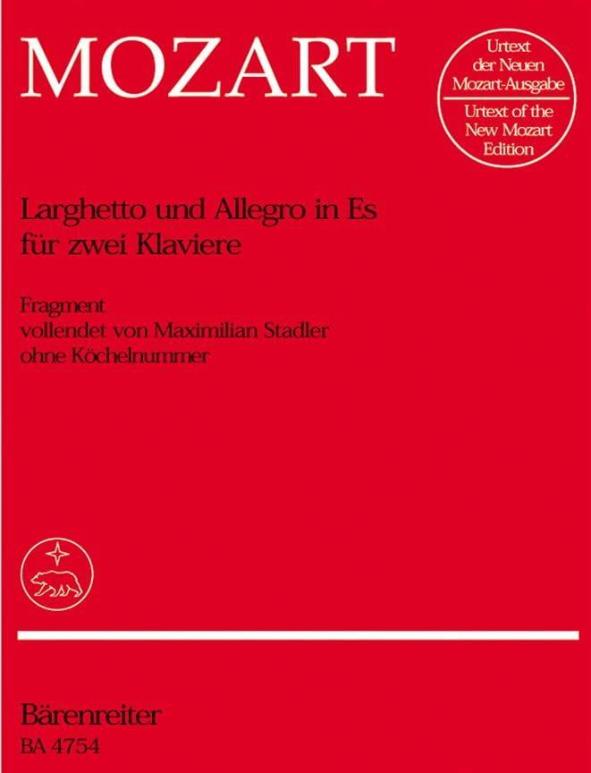 Larghetto et Allegro Mi Bémol Majeur. 2 Pianos - laflutedepan.com