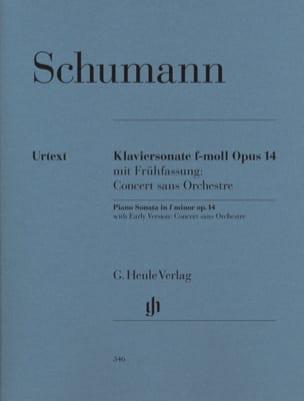 Sonate pour piano en fa mineur op. 14 SCHUMANN Partition laflutedepan