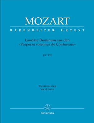 MOZART - Laudate Dominum KV 339 - Partition - di-arezzo.co.uk