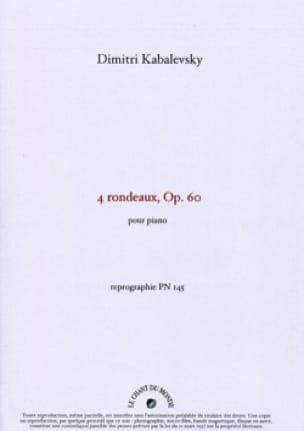 4 Rondeaux Opus 60. - KABALEVSKY - Partition - laflutedepan.com